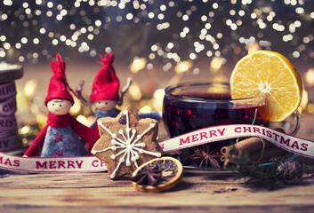 Glühwein Punsch Weihnachtskarte