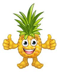 Fruit Cartoon Pineapple Mascot Character