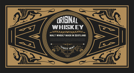 Whiskey card for packaging