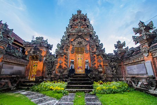 Balinese door facade