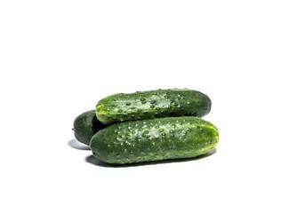 Cucumbers isolated on white horizontal