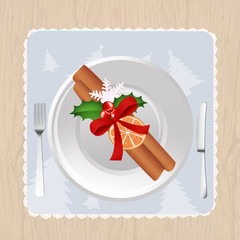 Christmas decorated plate