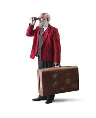 Elderly traveler of old times