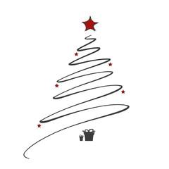 Weihnachtsbaum mit Sternen und Geschenken   modern