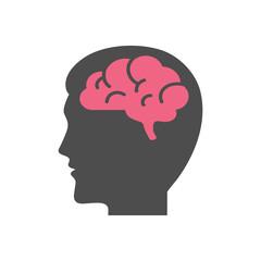 Head with brain vector illustration