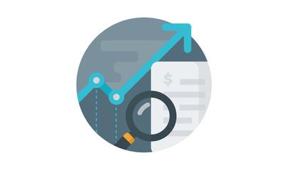 Financial report concept. Vector illustration.