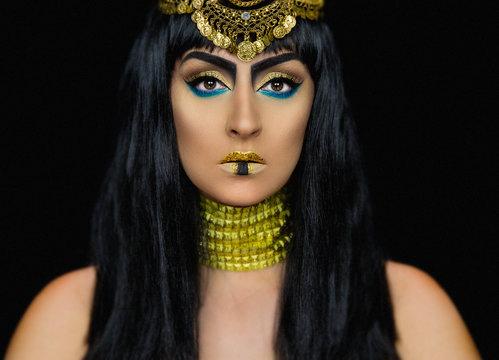 Cleopatra female posing in the studio