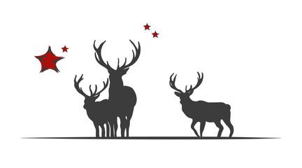 Weihnachten | Hirsche
