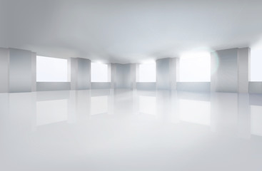 Room, wide open space. Vector illustration.