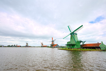 Mills of Zaandam, Netherlands (super-wide angle)