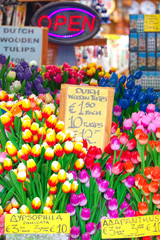 Wooden tulips for sale to Bloemenmarkt, Amsterdam