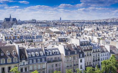 Wall Mural - Les toits de Paris depuis Beaubourg