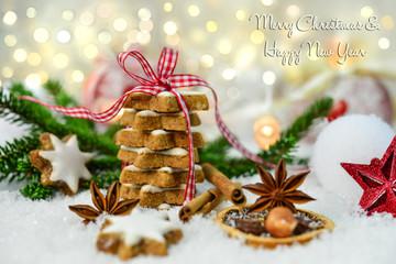 Grußkarte für Weihnachten und Neujahr
