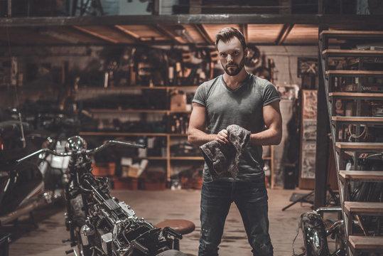 Confident mechanic.