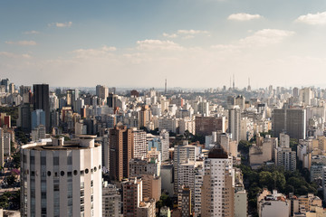 View of buildings in Sao Paulo city center