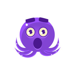Shocked Funny Octopus Emoji