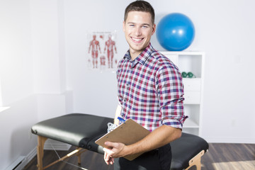 physiotherapist rehabilitating at job