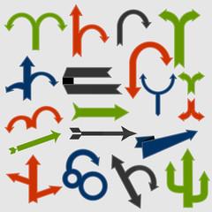 Set of retro arrows vector