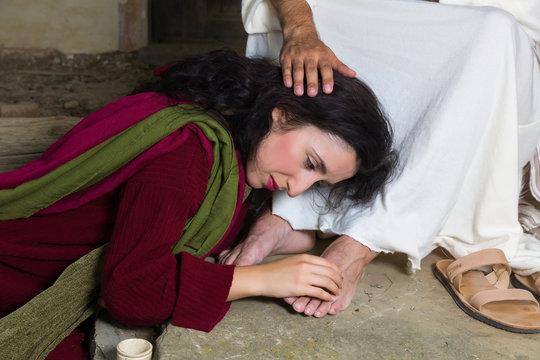 Tears of shame of Mary Magdalene