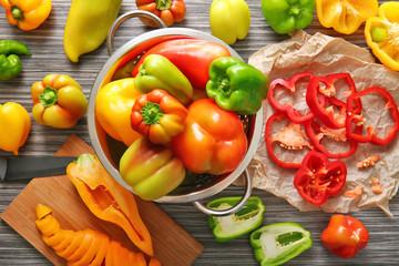 Fresh peppers, closeup
