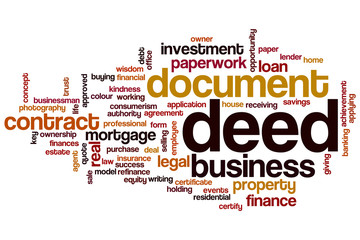 Deed word cloud