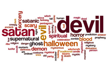 Devil word cloud