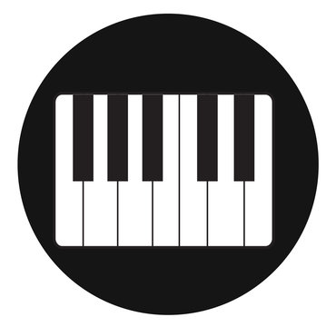 Pictograph of music keyboard