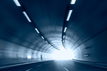 Acrylic Prints Tunnel abstract highway road tunnel
