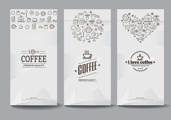 paper package design mock up template.cafe and restaurant packaging. coffee badge logo. vector template. modern style.