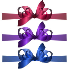 vector bowknot and ribbon