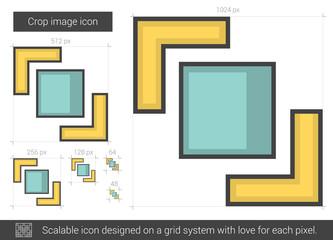 Crop image line icon.
