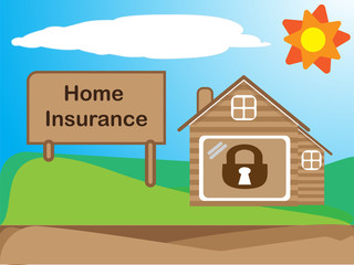 Home Insurance , Cartoon drawing , business concept, Vector illustration EPS10.