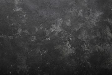 dark black grunge background. top view