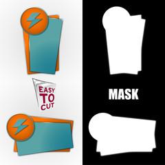 Obraz szablon banera z ikoną zestaw plus maska - fototapety do salonu