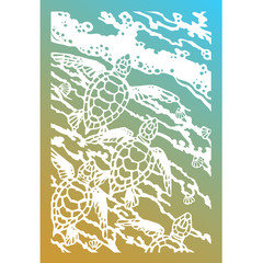Vector silhouette of turtles. The EPS 10 format.