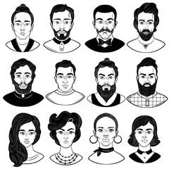Faces Monochrome Set