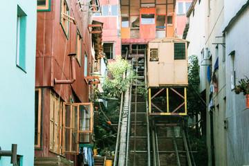 Tradicional Elevators of Valparaiso, Santiago, Chile