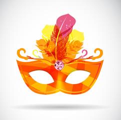 Masquerade Carnival Mask Icon Vector Illustration