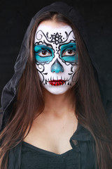 sugar skull blue (Halloween makeup)