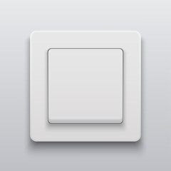Vector modern light switch icon background.