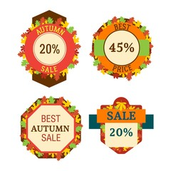 Autumn sale logo vector
