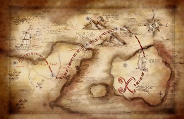 illustration of a treasure map