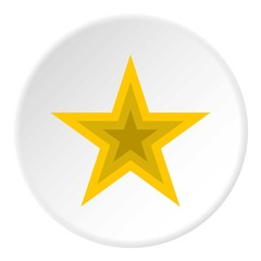 Celestial figure star icon. Flat illustration of celestial figure star vector icon for web
