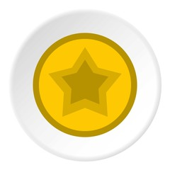 Star in circle icon. Flat illustration of star in circle vector icon for web