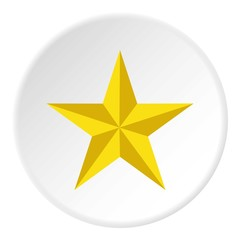 Yellow star icon. Flat illustration of yellow star vector icon for web