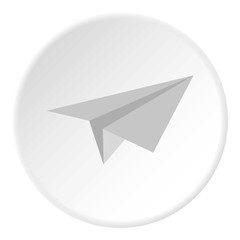Paper plane icon. Flat illustration of paper plane vector icon for web