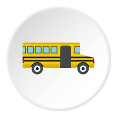 School bus icon. Flat illustration of school bus vector icon for web