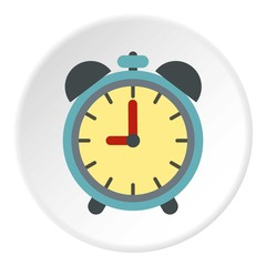 Alarm clock icon. Flat illustration of alarm clock vector icon for web
