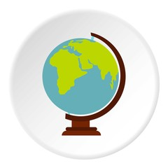 Globe icon. Flat illustration of globe vector icon for web