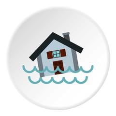 Flood icon. Flat illustration of flood vector icon for web